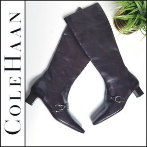 COLE HAAN Riding Boots in Burgandy Oxblood…